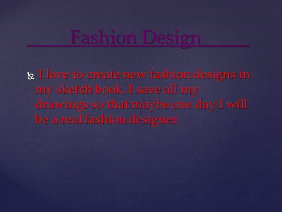 Fashion Design_____