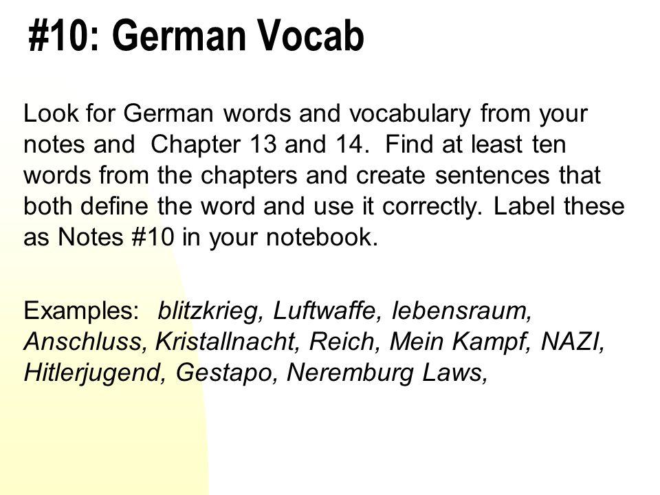#10: German Vocab