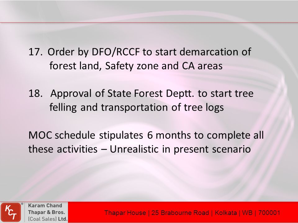 Order by DFO/RCCF to start demarcation of