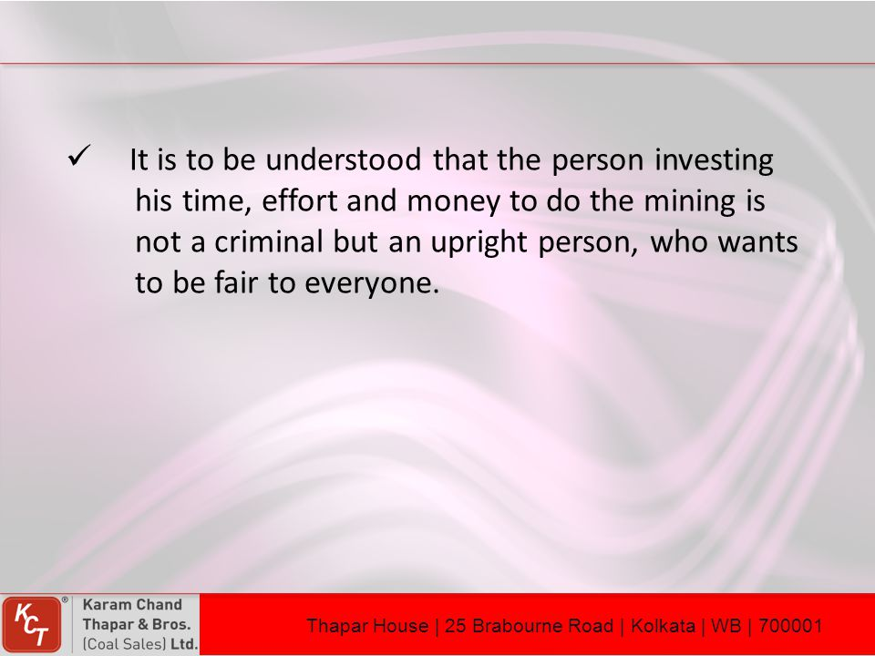 It is to be understood that the person investing