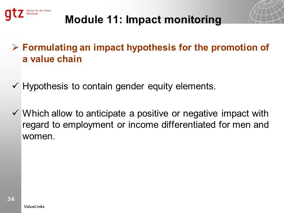 Module 11: Impact monitoring