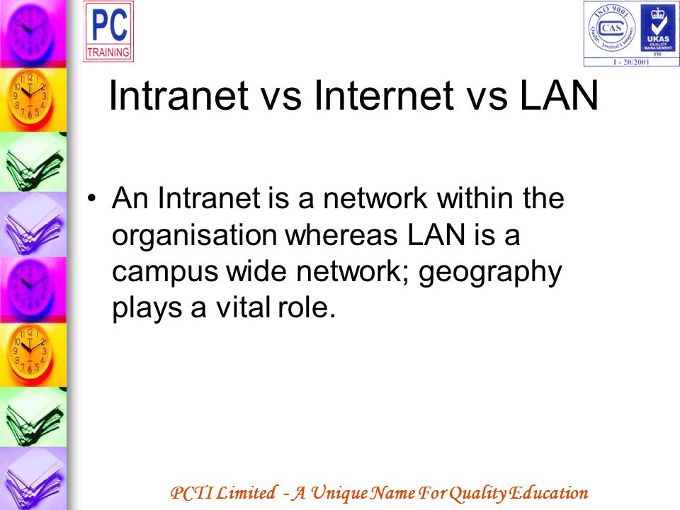 Intranet vs Internet vs LAN