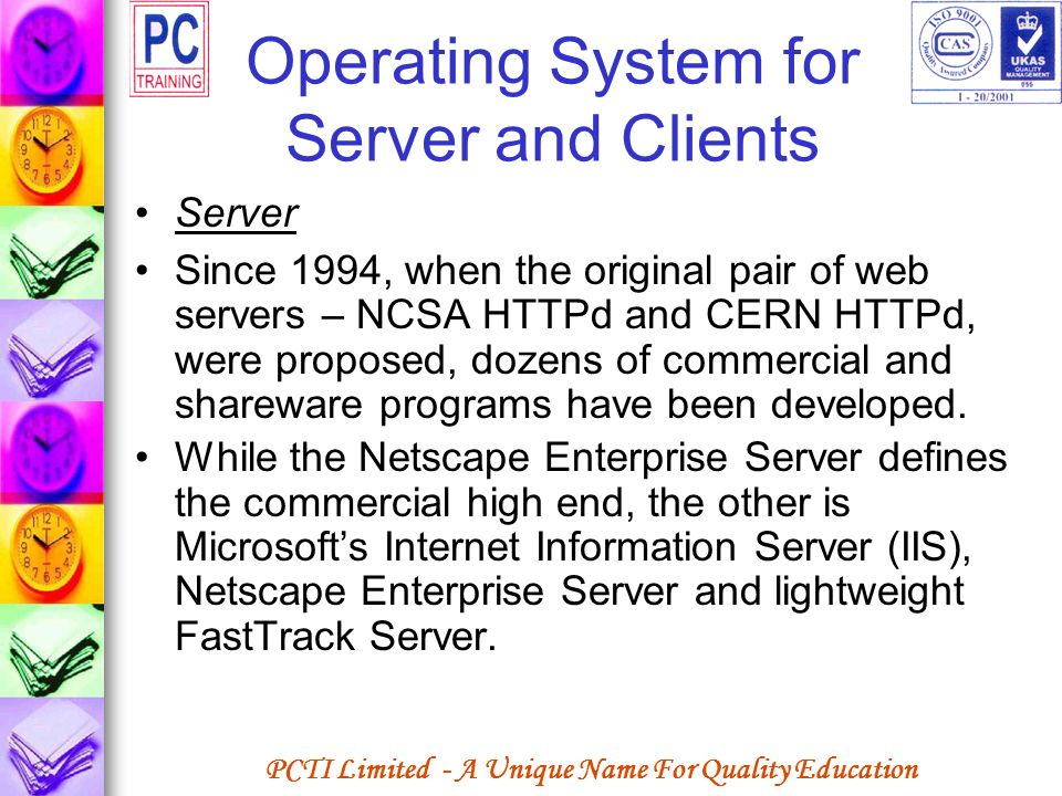 Operating System for Server and Clients