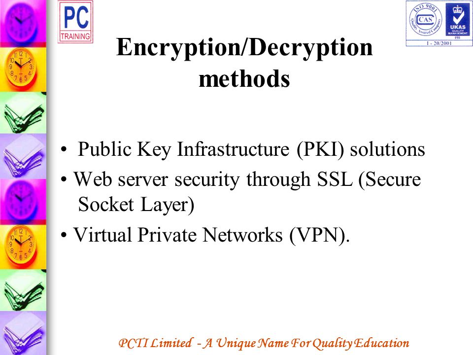 Encryption/Decryption methods