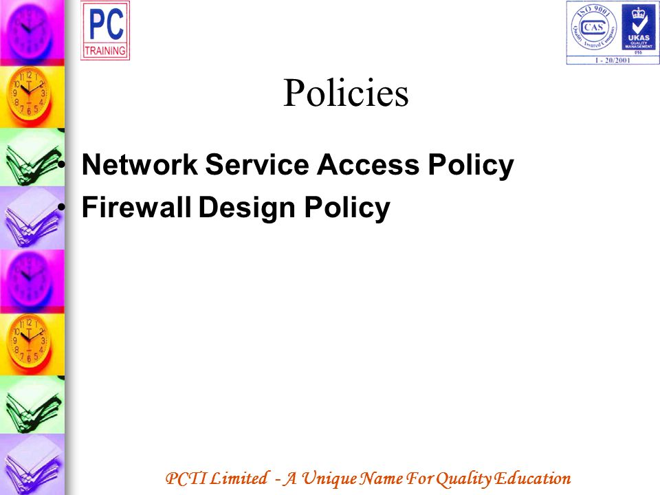 Policies Network Service Access Policy Firewall Design Policy