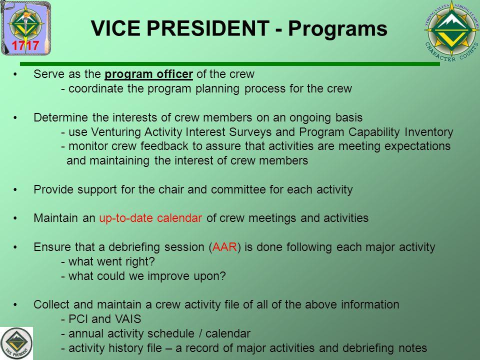VICE PRESIDENT - Programs