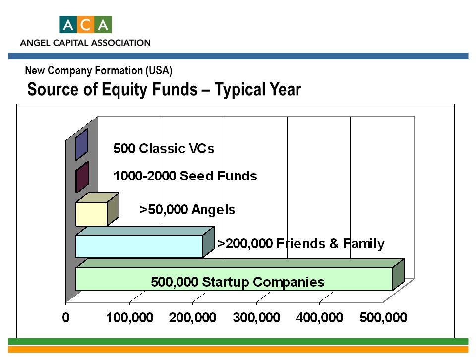 New Company Formation (USA) Source of Equity Funds – Typical Year