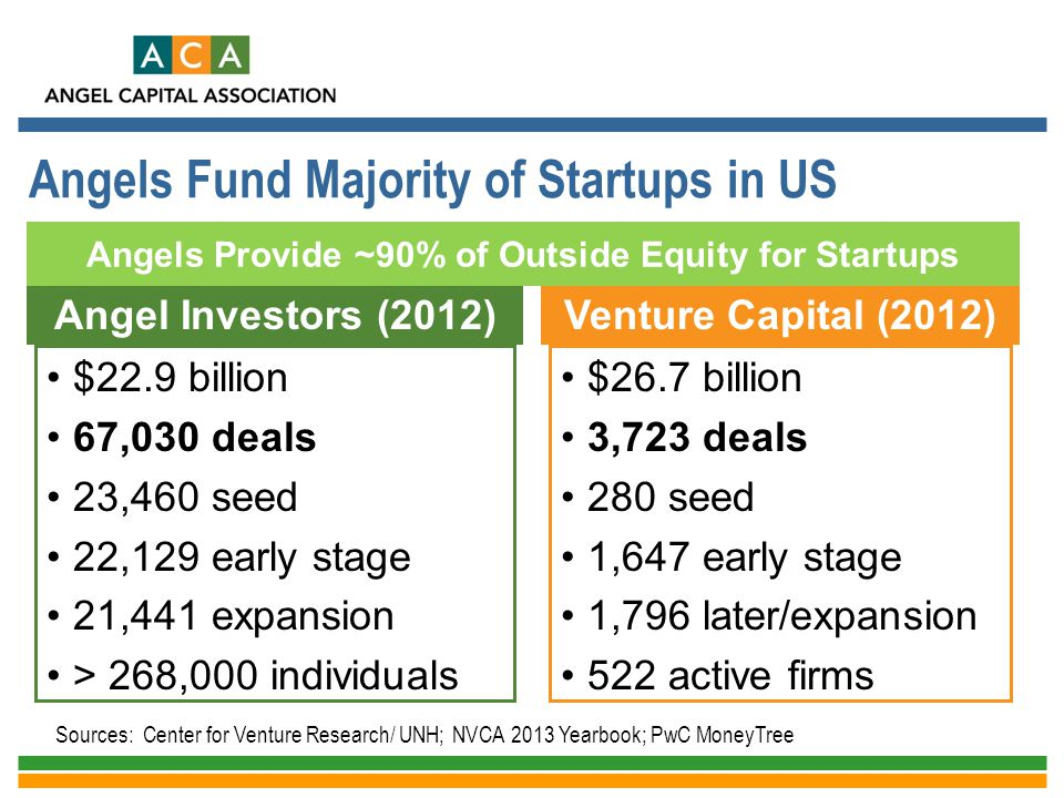 Angels Fund Majority of Startups in US