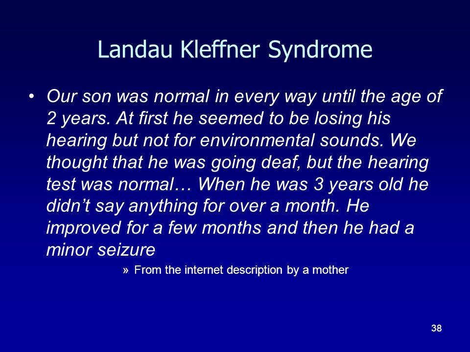 Landau Kleffner Syndrome