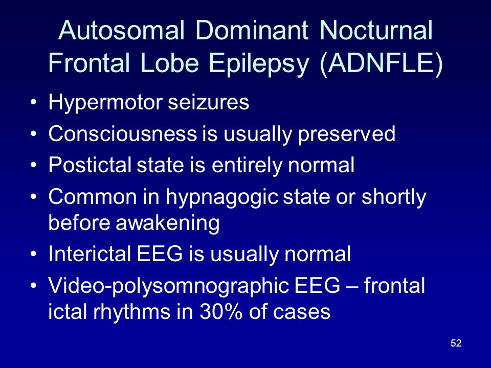 Autosomal Dominant Nocturnal Frontal Lobe Epilepsy (ADNFLE)