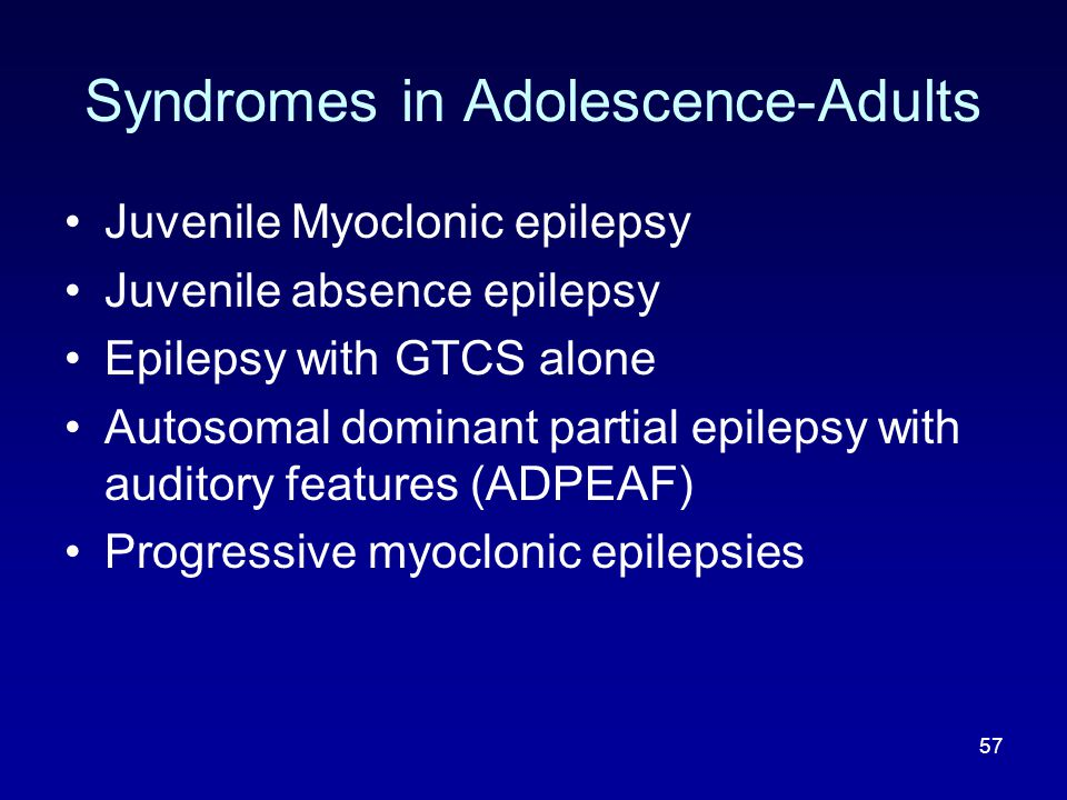 Syndromes in Adolescence-Adults