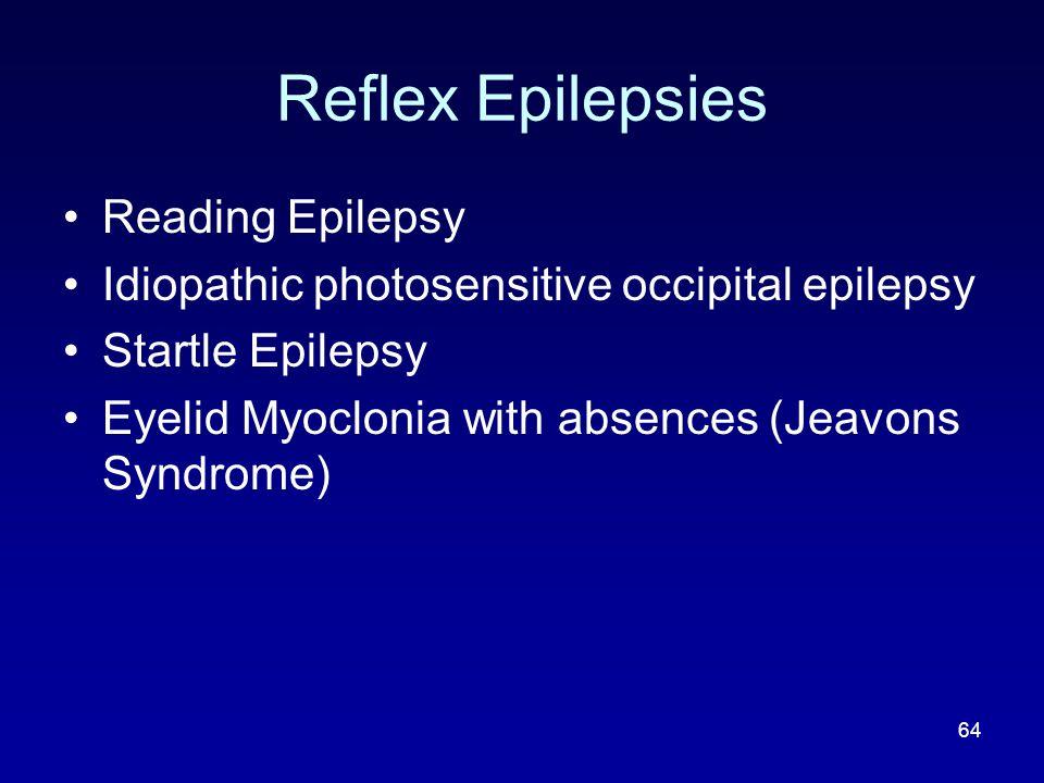 Reflex Epilepsies Reading Epilepsy