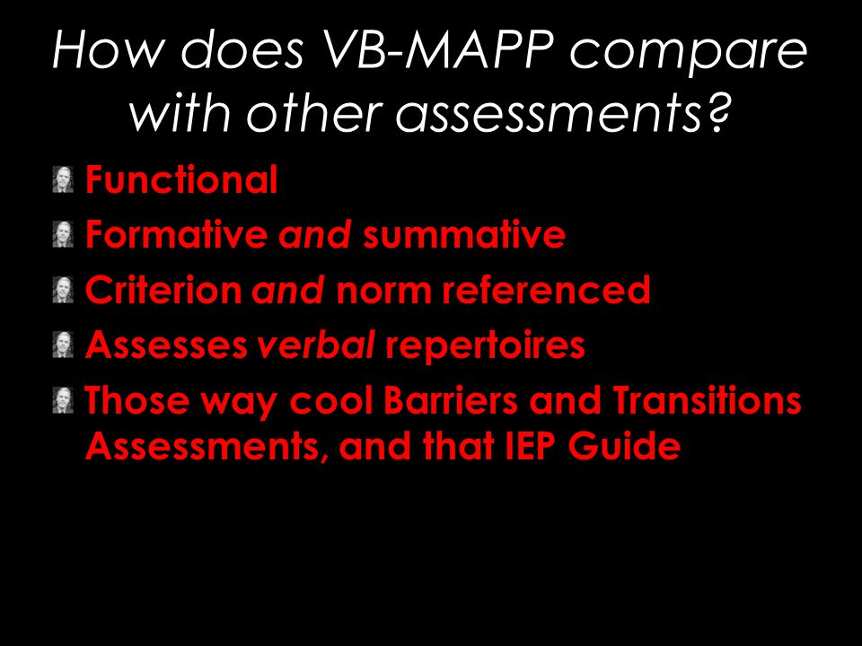 How does VB-MAPP compare with other assessments