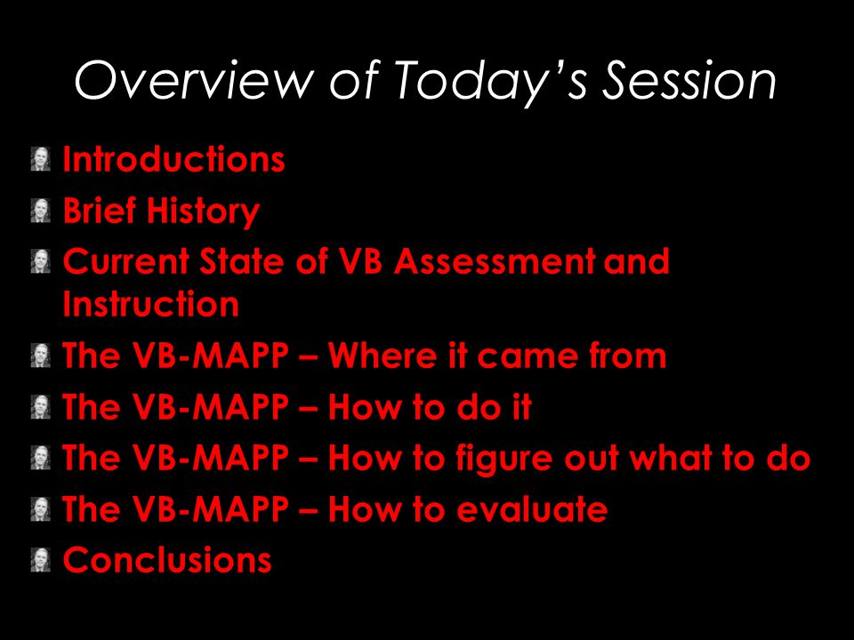 Overview of Today's Session