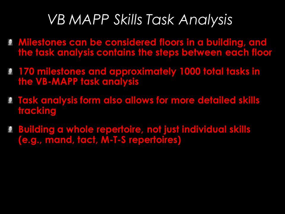 VB MAPP Skills Task Analysis