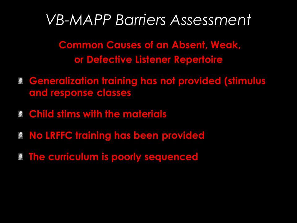 VB-MAPP Barriers Assessment