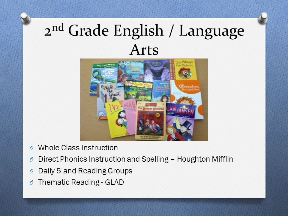 2nd Grade English / Language Arts