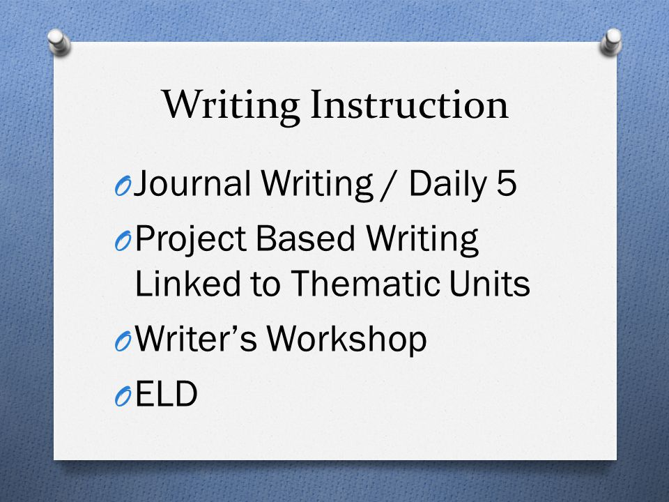 Writing Instruction Journal Writing / Daily 5