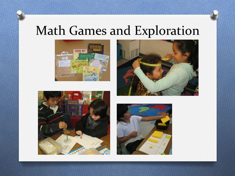 Math Games and Exploration