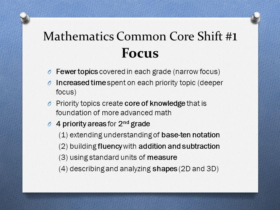 Mathematics Common Core Shift #1 Focus