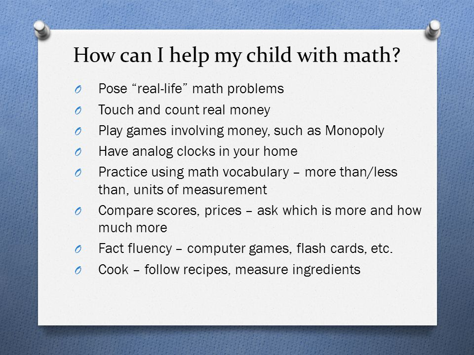 How can I help my child with math