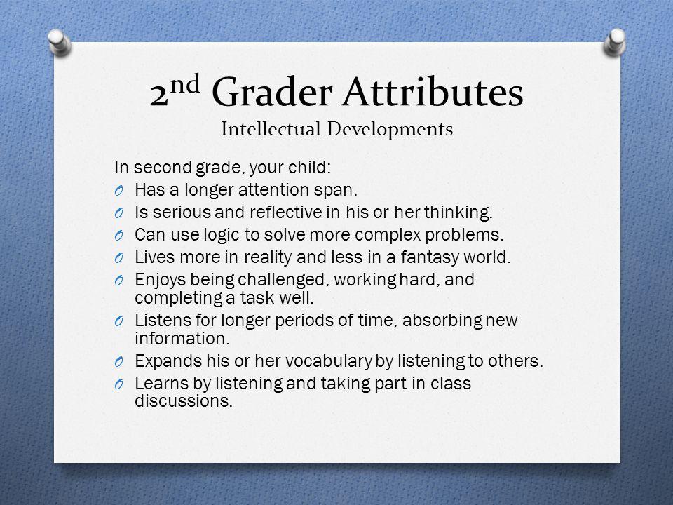 2nd Grader Attributes Intellectual Developments