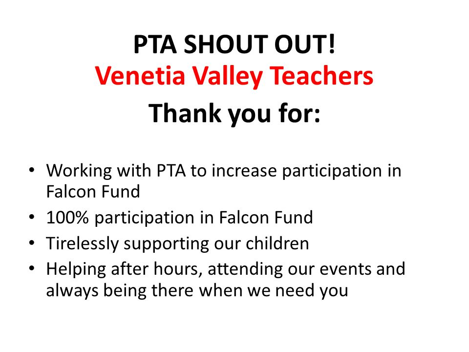 Venetia Valley Teachers