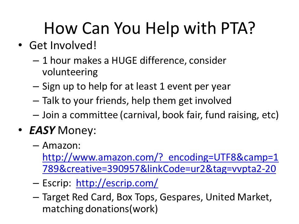 How Can You Help with PTA