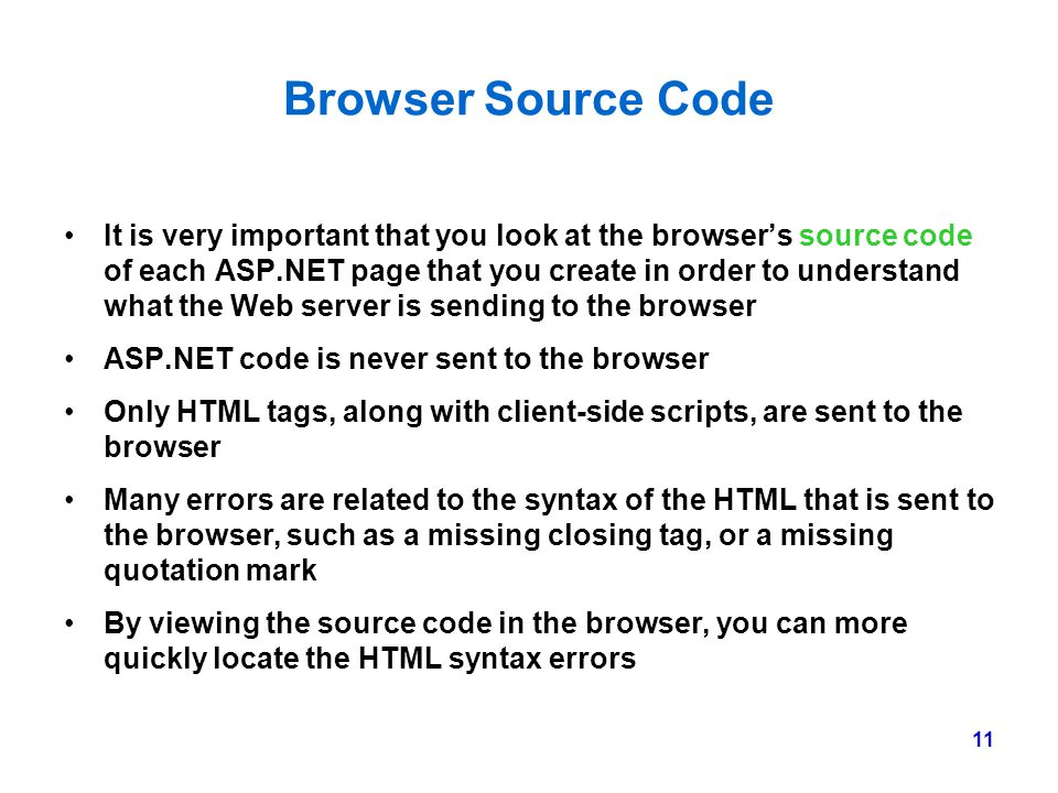 Browser Source Code