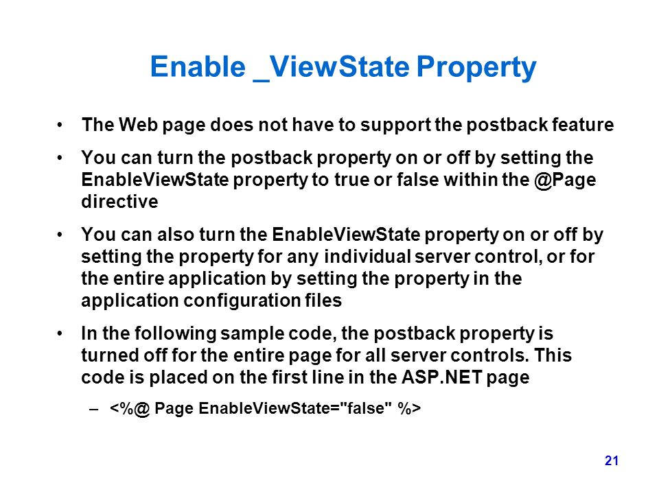 Enable _ViewState Property