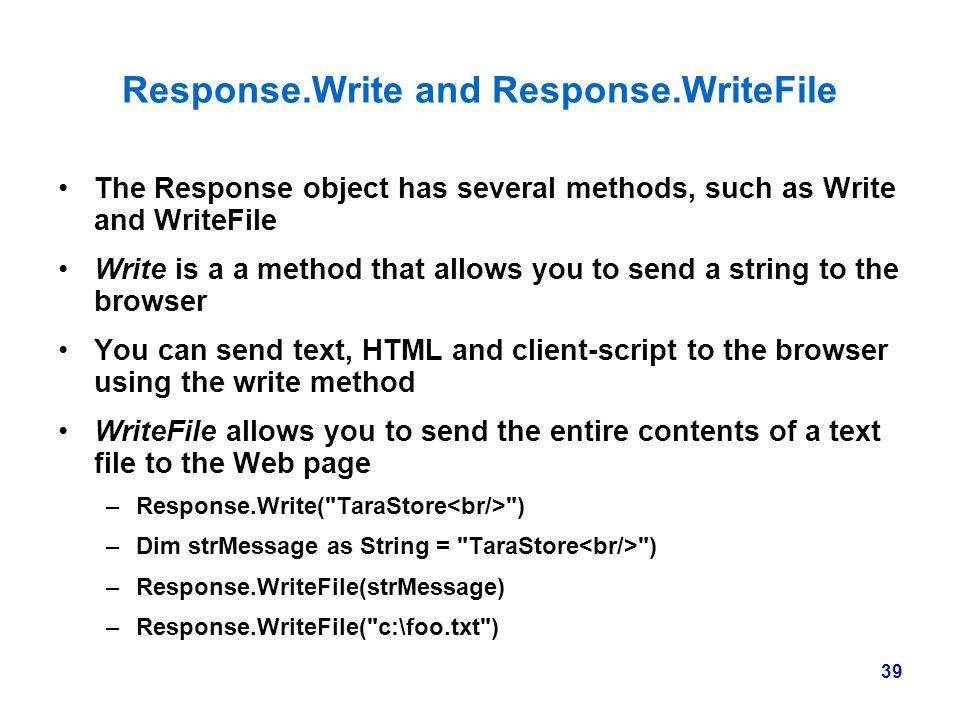 Response.Write and Response.WriteFile