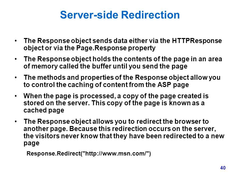 Server-side Redirection