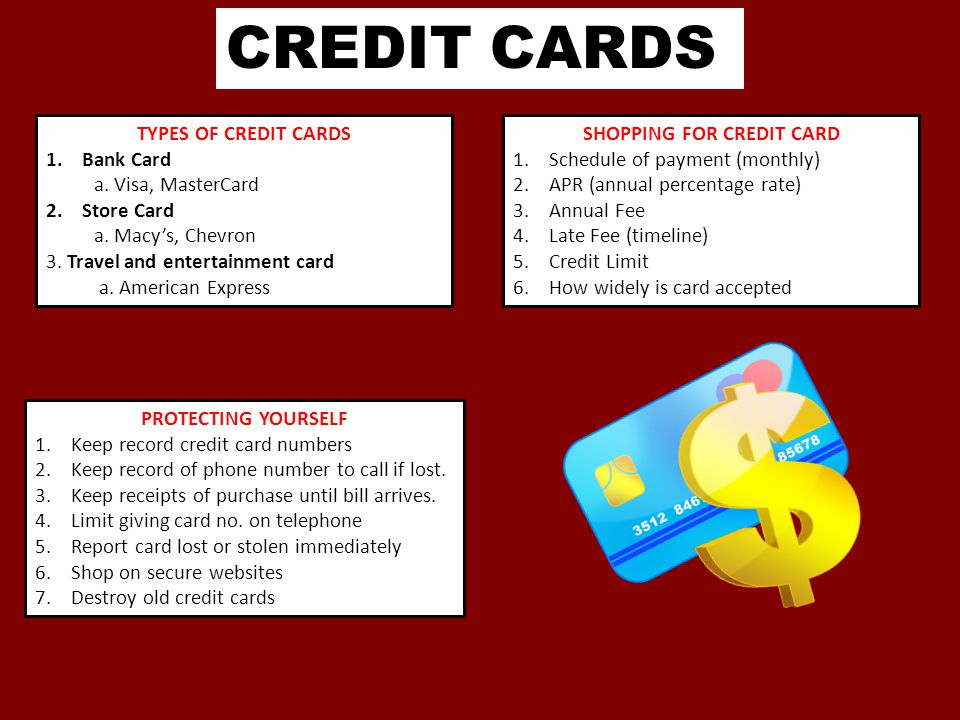 SHOPPING FOR CREDIT CARD