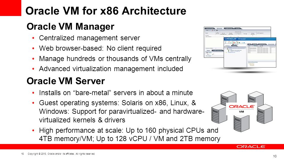 Oracle VM for x86 Architecture