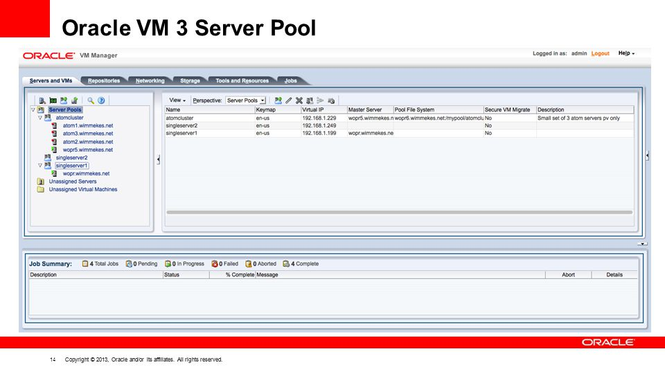 Oracle VM 3 Server Pool