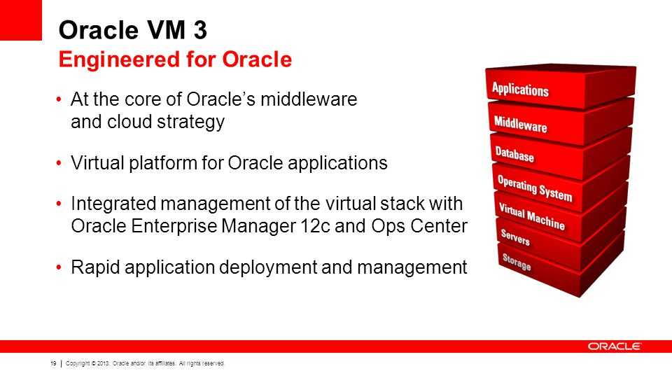 Oracle VM 3 Engineered for Oracle