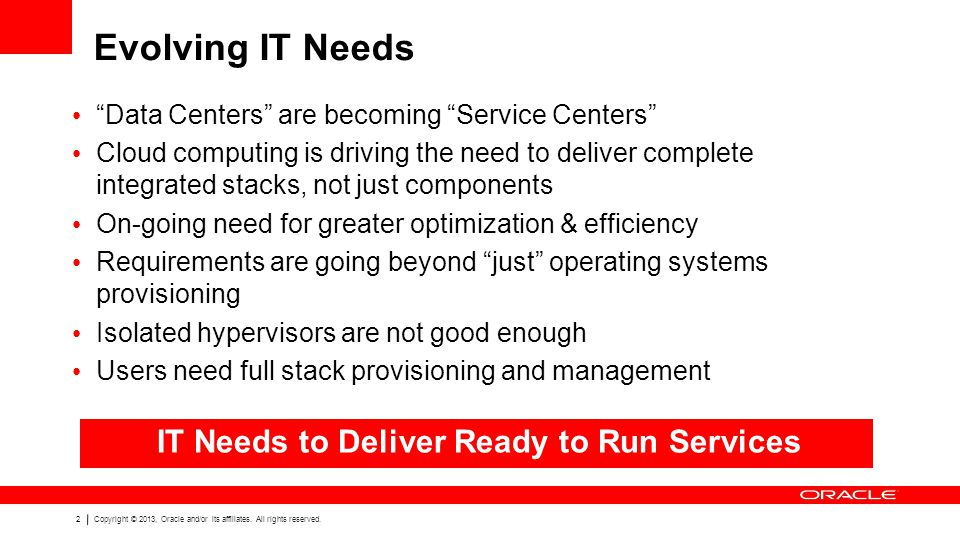 IT Needs to Deliver Ready to Run Services