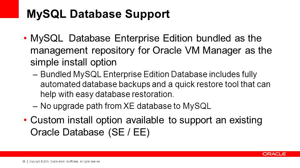 MySQL Database Support