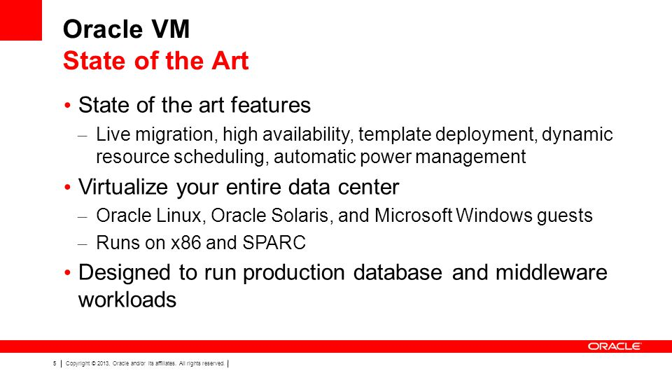 Oracle VM State of the Art