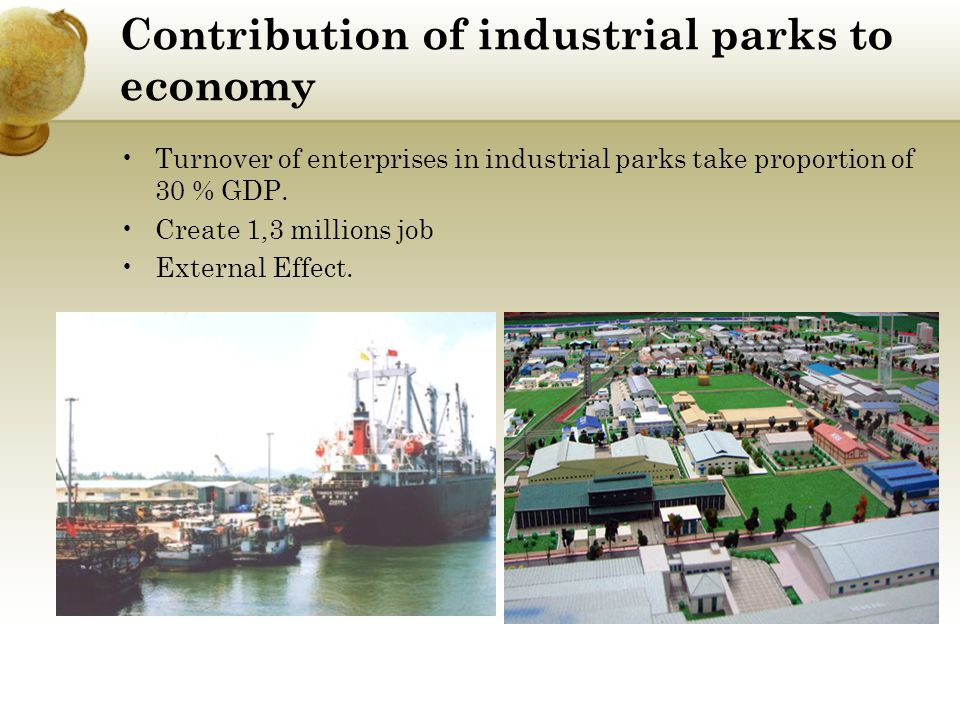 Contribution of industrial parks to economy