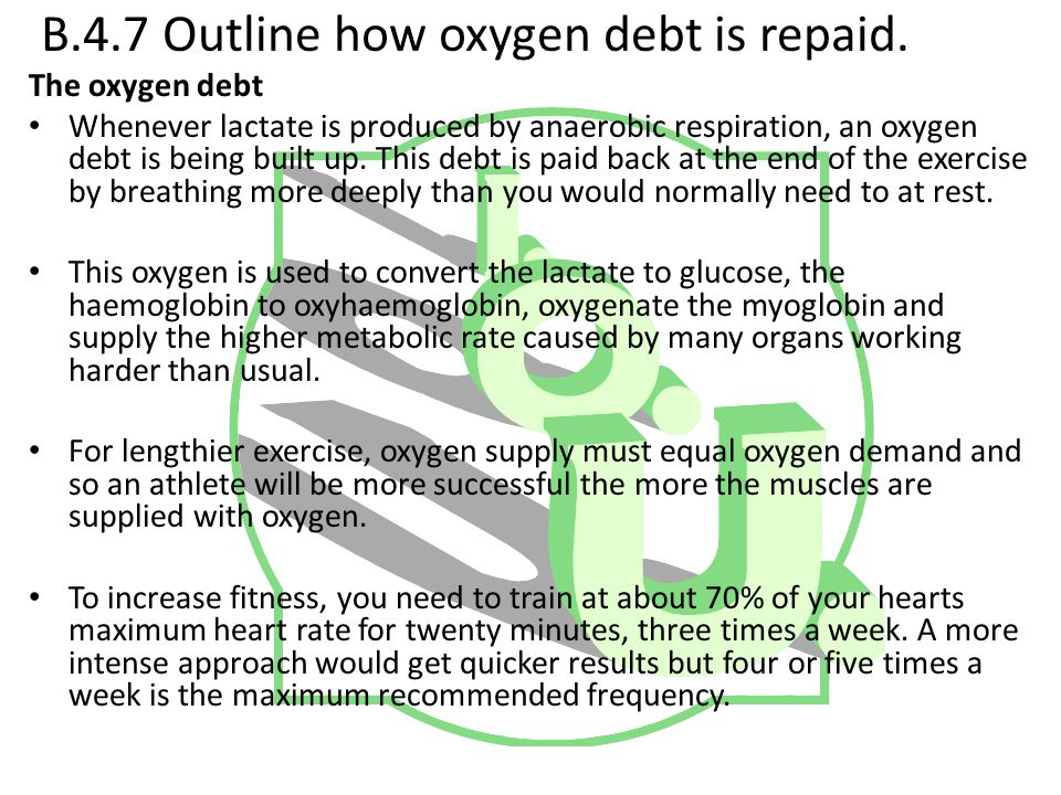 B.4.7 Outline how oxygen debt is repaid.