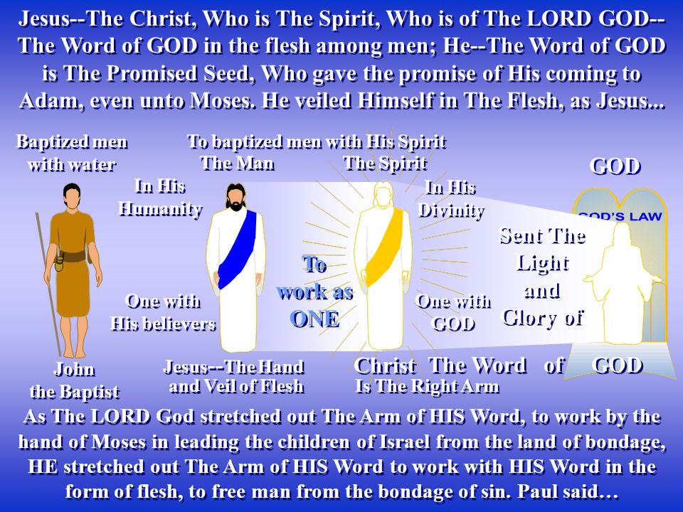To baptized men with His Spirit He preached repentance