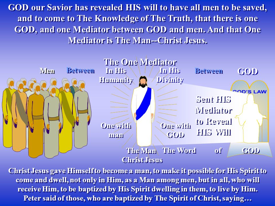 Peter said of those, who are baptized by The Spirit of Christ, saying…