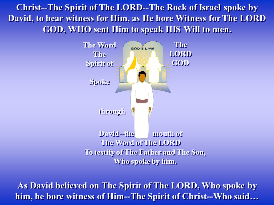 To testify of The Father and The Son, Who spoke by him.