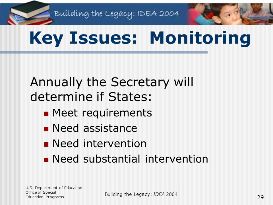 Key Issues: Monitoring