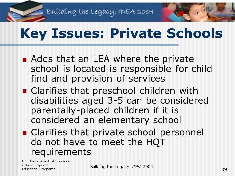 Key Issues: Private Schools