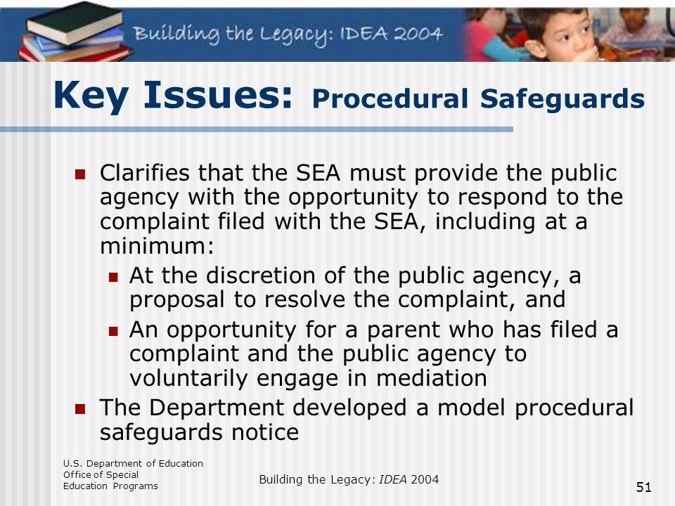 Key Issues: Procedural Safeguards