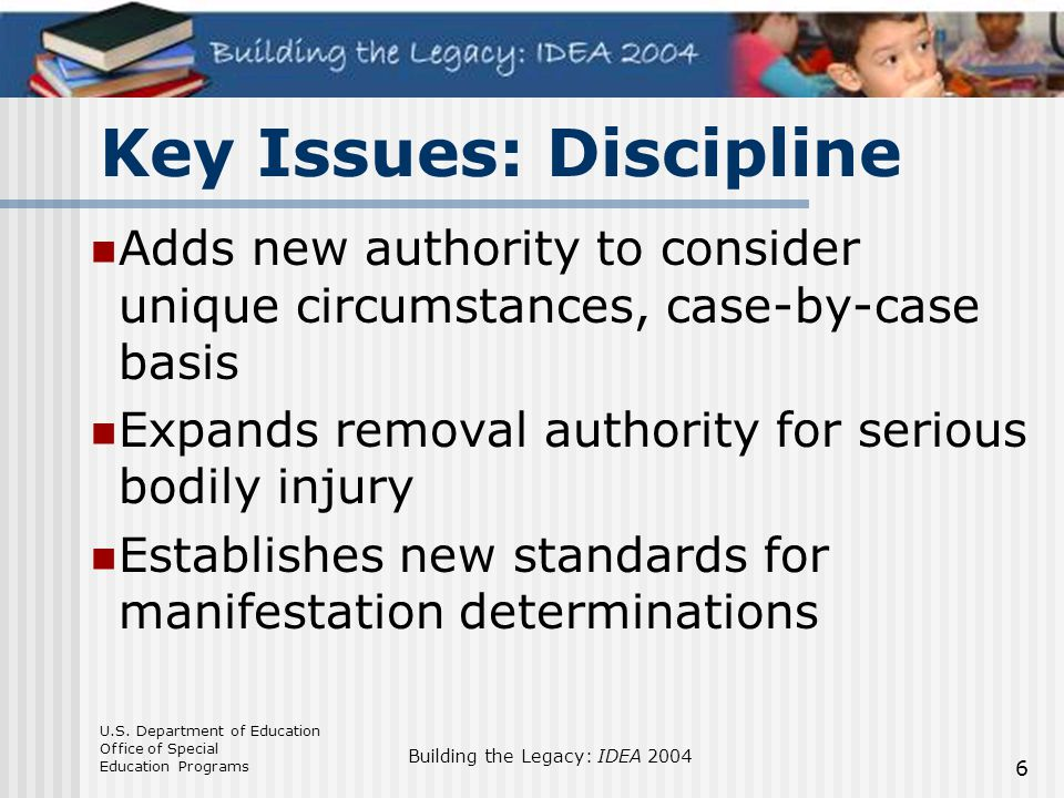 Key Issues: Discipline
