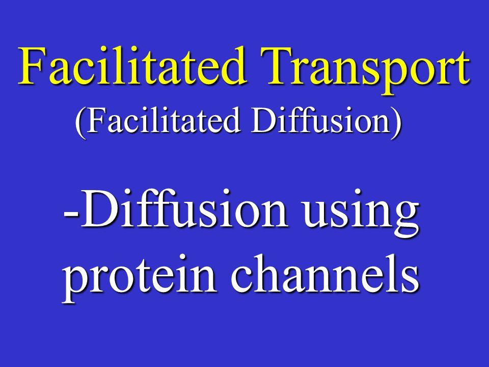 Facilitated Transport