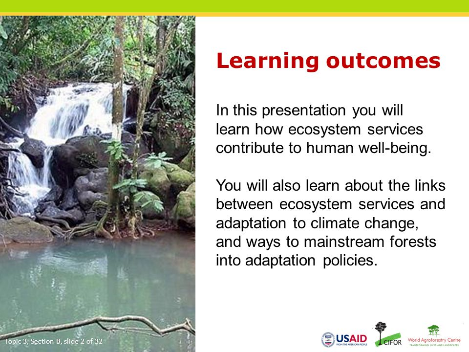 Learning outcomes In this presentation you will